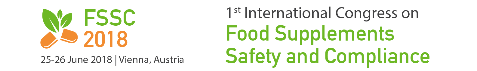 1st International Congress on Safety and Compliance of Food Supplements and Nutraceuticals in EU